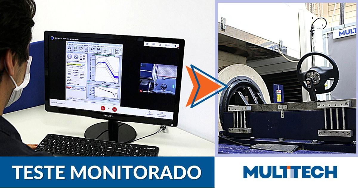 MULTITTECH realiza testes monitorados à distância e em tempo real